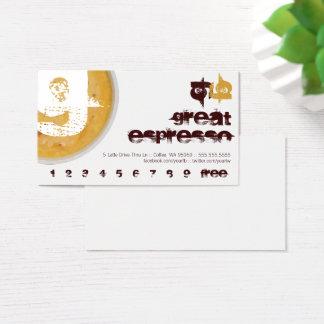 Cartes De Visite G - Poinçon mousseux de fidélité de tasse de café