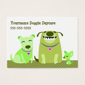 Cartes De Visite Garde de chienchien/marcheur de chien