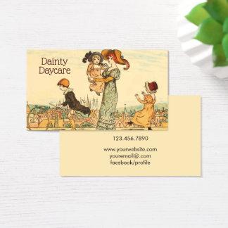 Cartes De Visite Garde d'enfants vintage de bonne d'enfants
