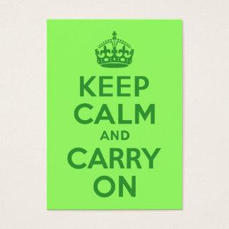 Cartes De Visite Gardez le calme et continuez