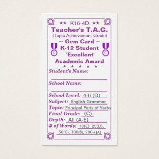 Cartes De Visite ~Gem Card~ Elem 100ct du T.A.G. du professeur de