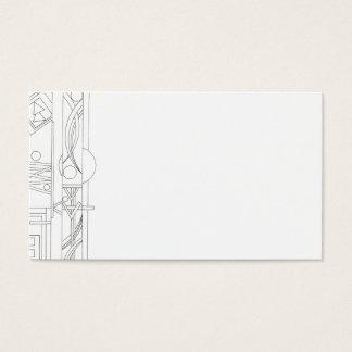 Cartes De Visite Géométrique Rêve-Noir et blanc de l'architecte