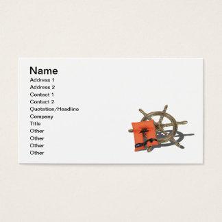 Cartes De Visite Gilet de vie de roue de bateau