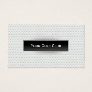 Cartes De Visite Golf professionnel de texture de boule de golf