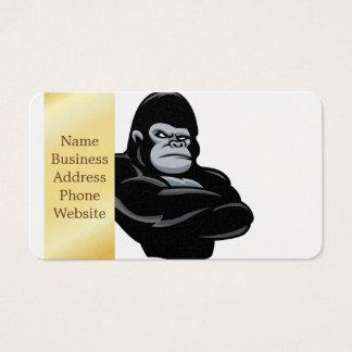 Cartes De Visite gorille fâché