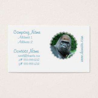 Cartes De Visite Gorille perplexe