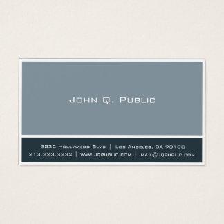 Cartes De Visite Gris bleu professionnel minimaliste