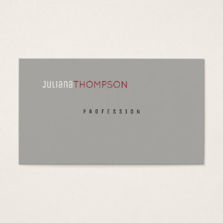 Cartes De Visite gris élégant professionnel minimaliste