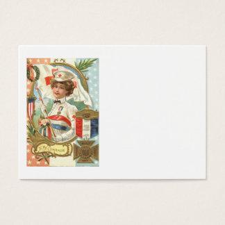 Cartes De Visite Guirlande de fleurs d'infirmière de Croix-Rouge