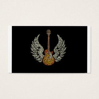 Cartes De Visite Guitare avec des ailes