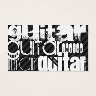Cartes De Visite Guitare ; Rayures noires et gris-foncé