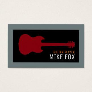 Cartes De Visite guitariste de professionnel de musique