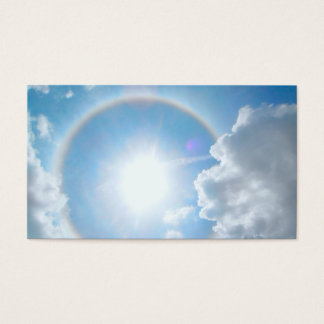 Cartes De Visite Halo de l'arc-en-ciel de Sun