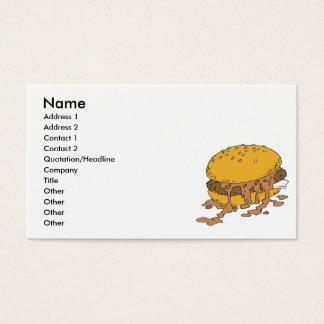 Cartes De Visite hamburger désordonné de piment