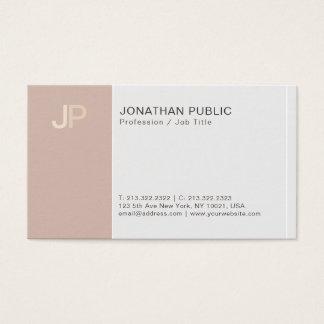 Cartes De Visite Harmonie beige élégante créative de monogramme