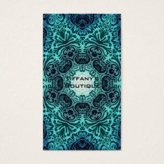 Cartes De Visite Henné turquoise de mandala Paisley de turquoise