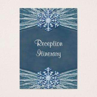 Cartes De Visite Hiver Frost et épouser de flocons de neige