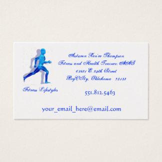 Cartes De Visite homme courant pour logo2, modes de vie de forme