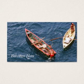 Cartes De Visite Hommes de bateaux de pêche d'océan bleu de bateau