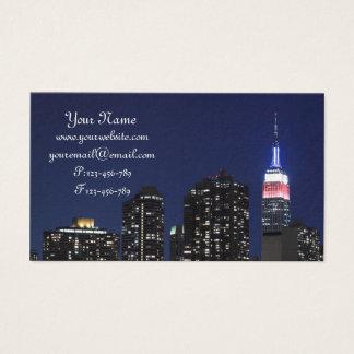 Cartes De Visite Horizon de Midtown Manhattan la nuit, New York