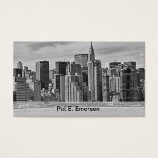 Cartes De Visite Horizon de New York City de l'East River B&W