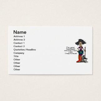 Cartes De Visite Humour de femme de charge