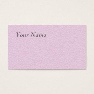 Cartes De Visite Image de cuir rose-clair