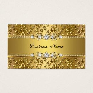 Cartes De Visite Image de relief par damassé chique élégante d'or