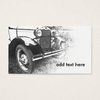 Cartes De Visite image noire et blanche d'une voiture ancienne