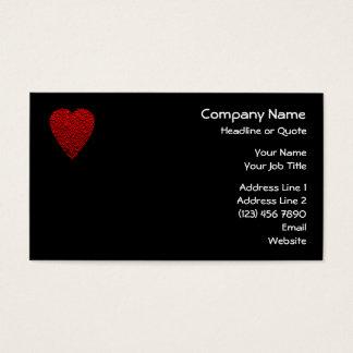 Cartes De Visite Image rouge lumineuse de coeur