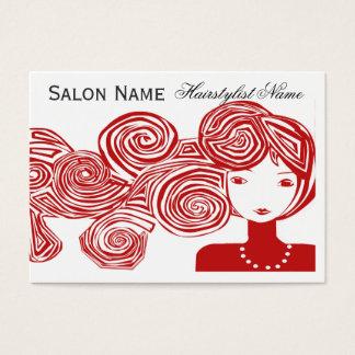 Cartes De Visite Imaginaire de cheveux de vague de coiffeur
