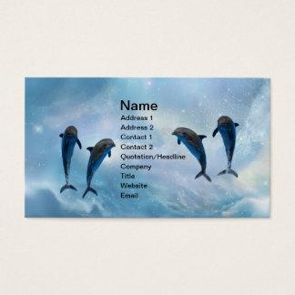 Cartes De Visite Imaginaire de dauphins