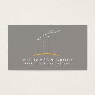 Cartes De Visite Immobiliers, architecte, logo de construction sur