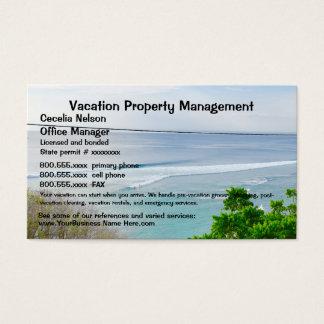 Cartes De Visite Immobiliers de vacances de propriété de plage