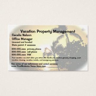 Cartes De Visite Immobiliers de vacances ou gestion de propriété