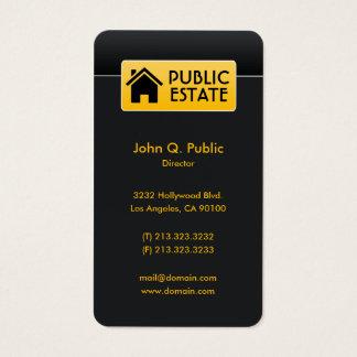 Cartes De Visite Immobiliers noirs d'entreprise élégants