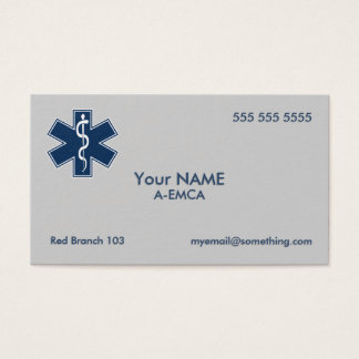 Cartes De Visite Infirmier EMT SME