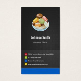 Cartes De Visite Innovateur créatif de macarons de fabricant de