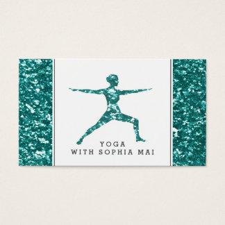 Cartes De Visite Instructeur à la mode de yoga d'effet de