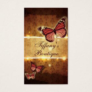 Cartes De Visite Instructeur curatif holistique de yoga de papillon