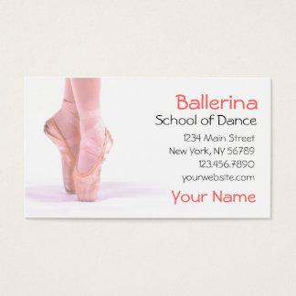 Cartes De Visite Instructeur de danse de ballerine