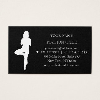 Cartes De Visite Instructeur élégant de yoga