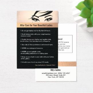 Cartes De Visite Instructions et référence de soins ultérieurs de