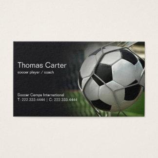 Cartes De Visite International de camp du football d'entraîneur de