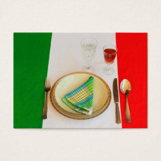 CARTES DE VISITE ITALIENS DE CUISINE