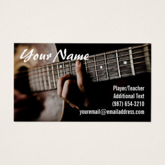 Cartes De Visite Joueur de guitare - professeur - compositeur -