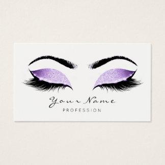 Cartes De Visite La beauté de maquillage de parties scintillantes