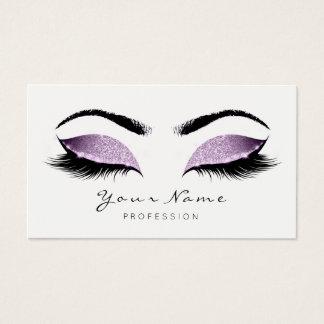 Cartes De Visite La beauté pourpre de maquillage de parties