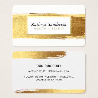 Cartes De Visite La brosse FASCINANTE d'or frotte les fronts et les