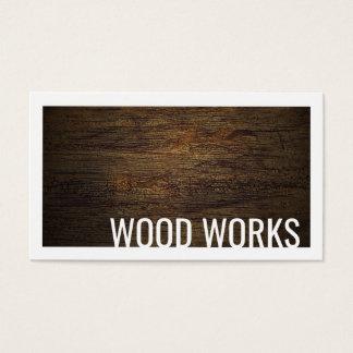 Cartes De Visite La conception en bois de panneau en bois de